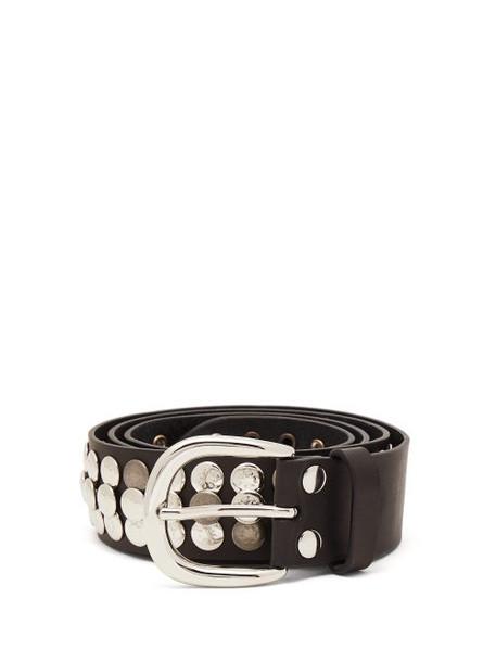 Isabel Marant - Moha Studded Leather Belt - Womens - Black