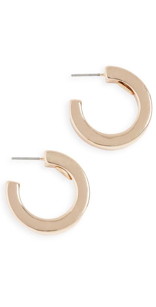 Kenneth Jay Lane Small Polished Open Hoop Earrings in gold
