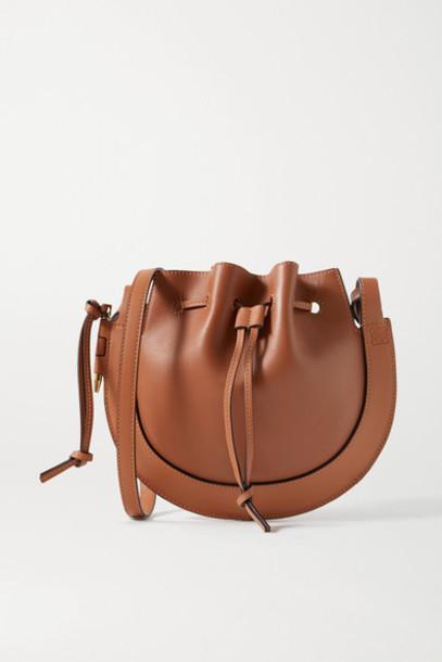 Loewe - Horseshoe Leather Shoulder Bag - Tan