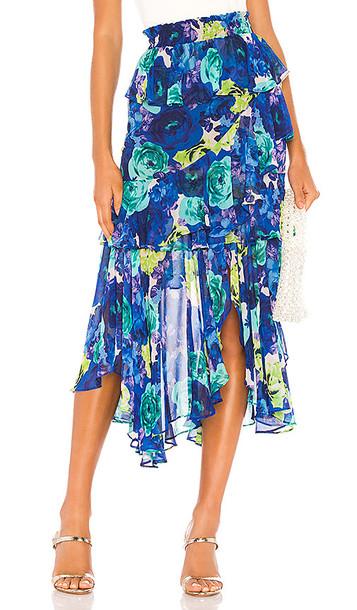 MISA Los Angeles X REVOLVE Joseva Skirt in Blue,Green