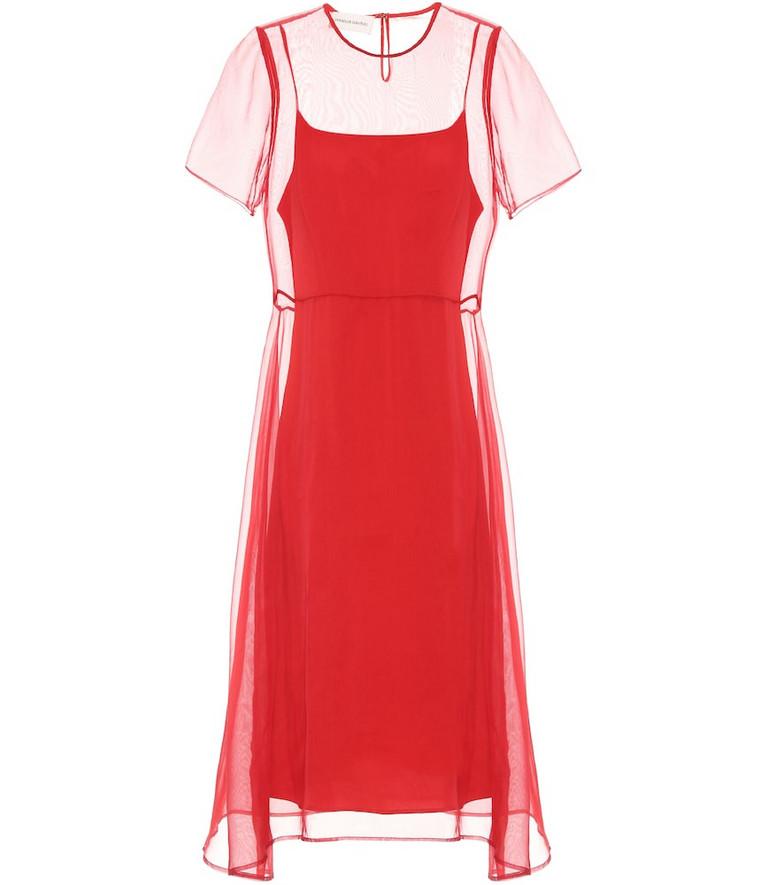 Mansur Gavriel Layered silk dress in red