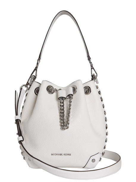 MICHAEL Michael Kors Alanis Bucket Bag in bianco