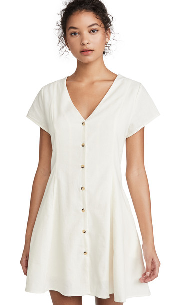 Rolla's Milla Linen Dress in white