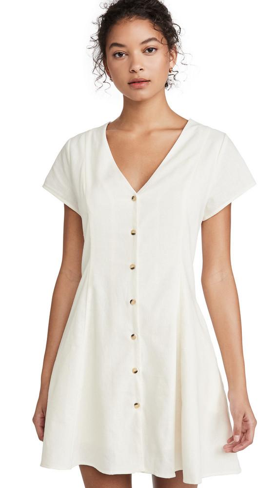 Rolla's Milla Linen Dress in white