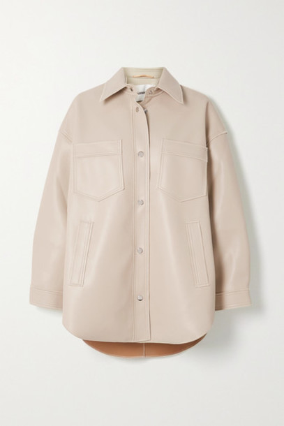 Nanushka - Martin Vegan Leather Shirt - Cream