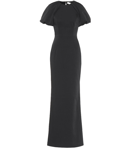 Rebecca Vallance Winslow crêpe gown in black