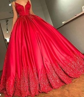 dress,red,prom,ball,gown,ball gown dress,poofy,cute