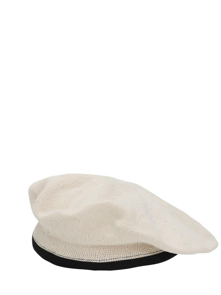 SCHA Flying Duck Cotton Beret in ecru