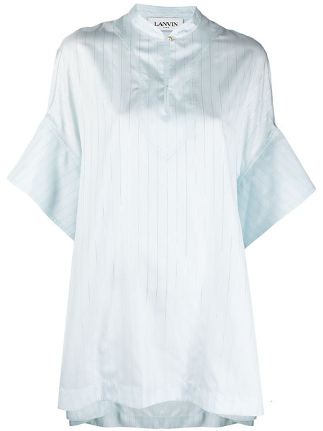 LANVIN striped short-sleeve tunic in blue