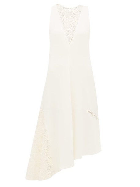 Tibi - Guipure Lace Crepe Dress - Womens - Ivory