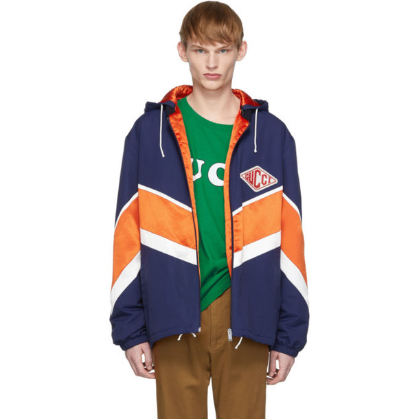 Gucci Orange & Navy Technical Jacket