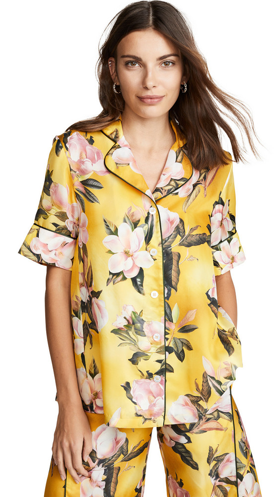F.R.S For Restless Sleepers Button Down Shirt in yellow / multi