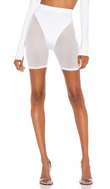 LaQuan Smith X REVOLVE Mesh Biker Short in White