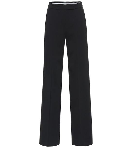 Max Mara Odilia high-rise stretch-jersey pants in black