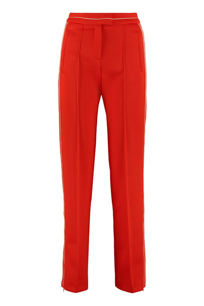 Pinko Flessibile Straight-leg Trousers in red