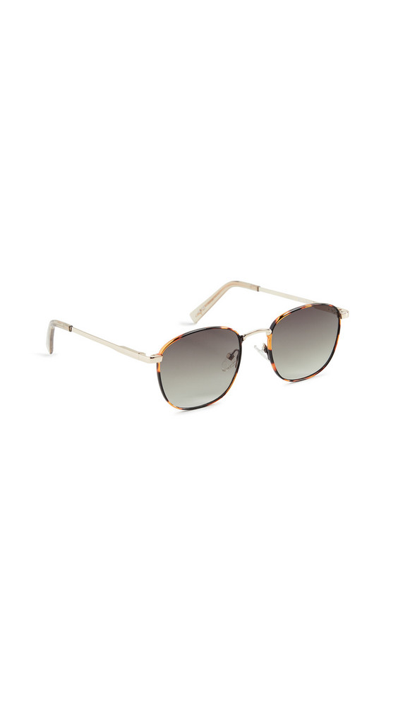 Le Specs Neptune Deux Sunglasses in gold / khaki