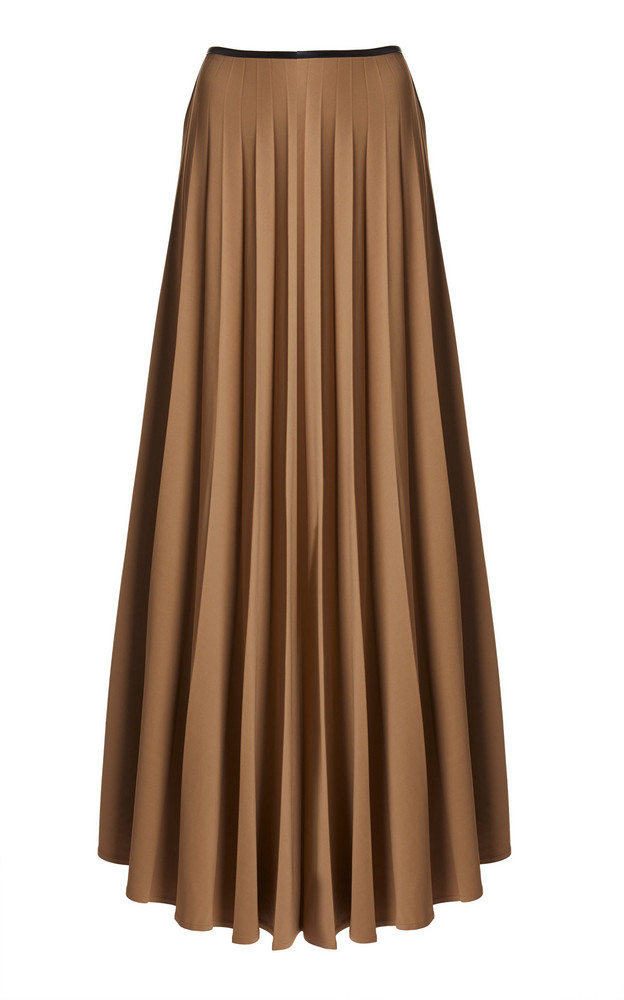 Peter Do Pleated Maxi Skirt in neutral