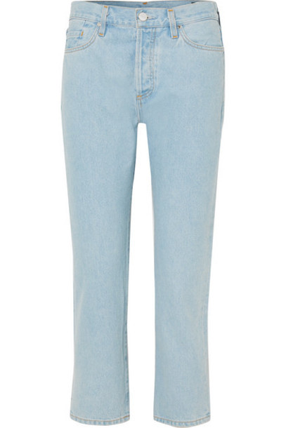 Goldsign - The Low Slung Cropped Mid-rise Straight-leg Jeans - Light denim
