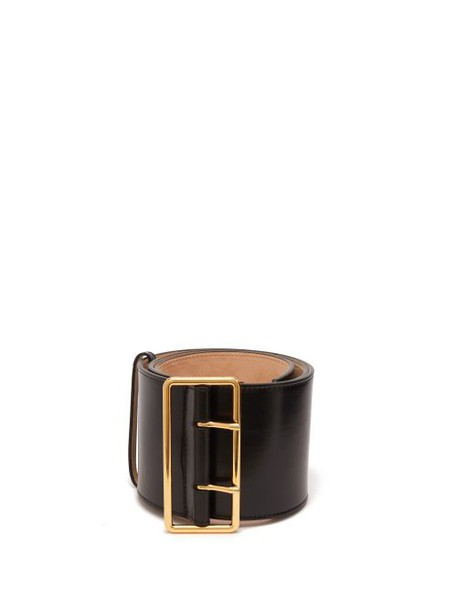 Alexander Mcqueen - Wide Leather Belt - Womens - Black