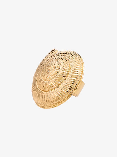 Tohum Archi 24kt gold-plated shell ring