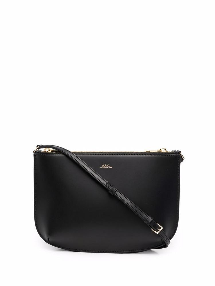 A.P.C. A.P.C. Sarah double-pouch leather bag - Black