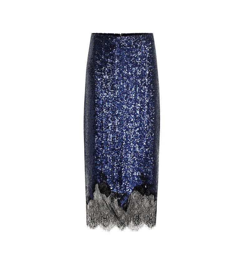 Costarellos Sequined midi skirt in blue
