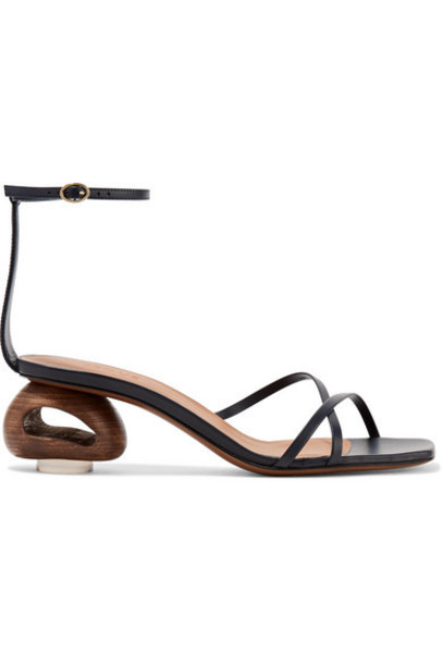 Neous - Phippium Leather Sandals - Midnight blue