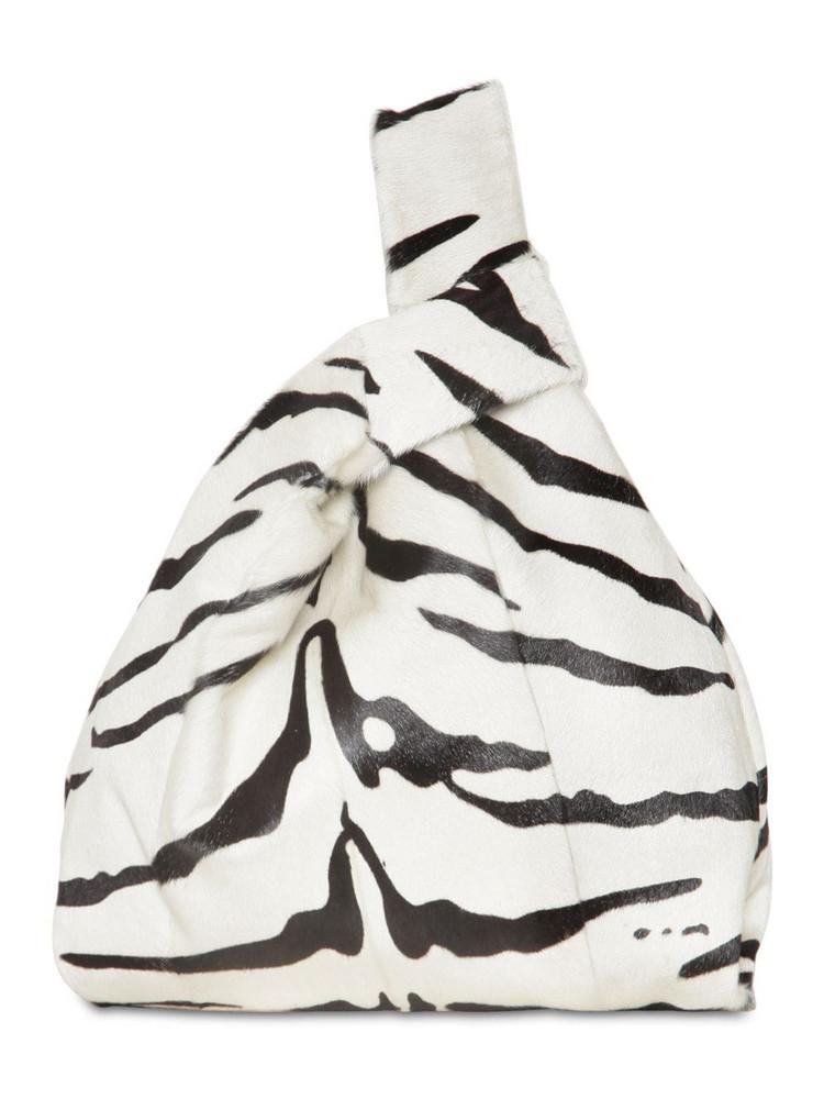 SIMONETTA RAVIZZA Furissima Kid Zebra Printed Bag in white
