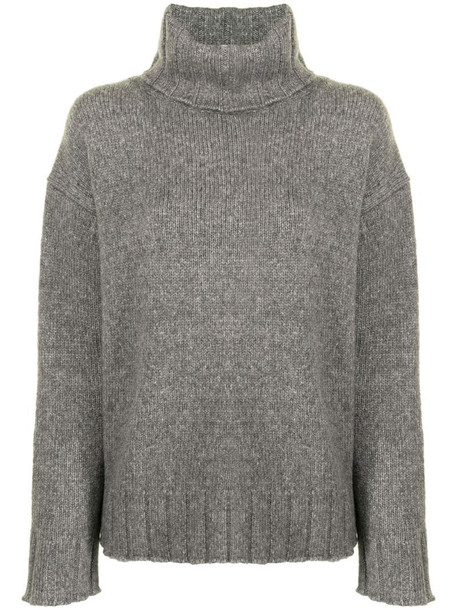 Nili Lotan Zoe turtle neck jumper in grey