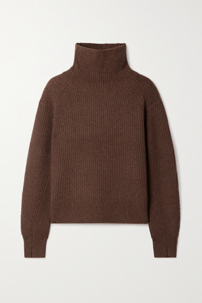 rag & bone - Pierce Ribbed Cashmere Turtleneck Sweater - Chocolate