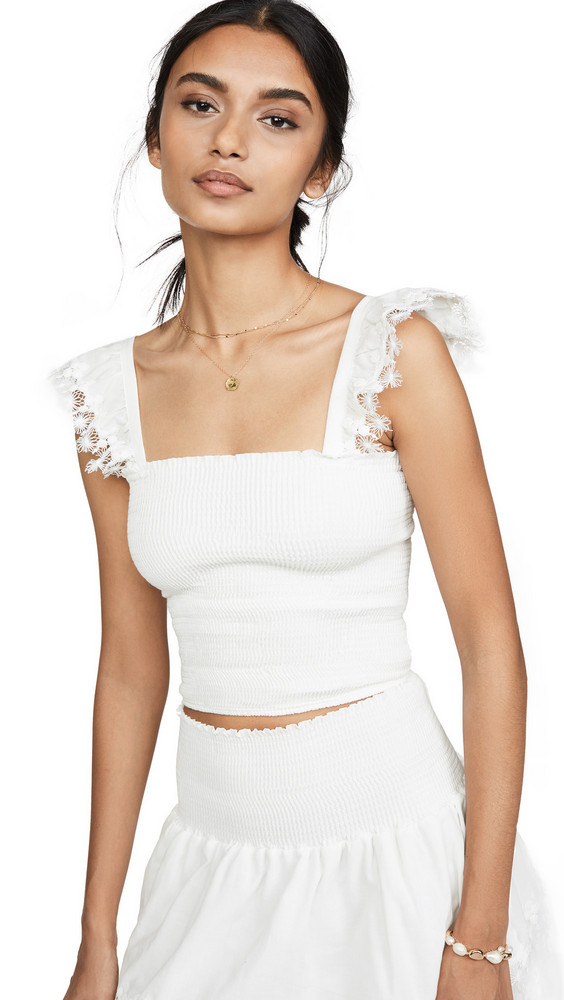 Peixoto Cropped Top in white