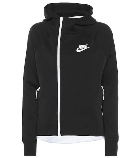 Nike Sportswear Tech cotton-blend hoodie in black