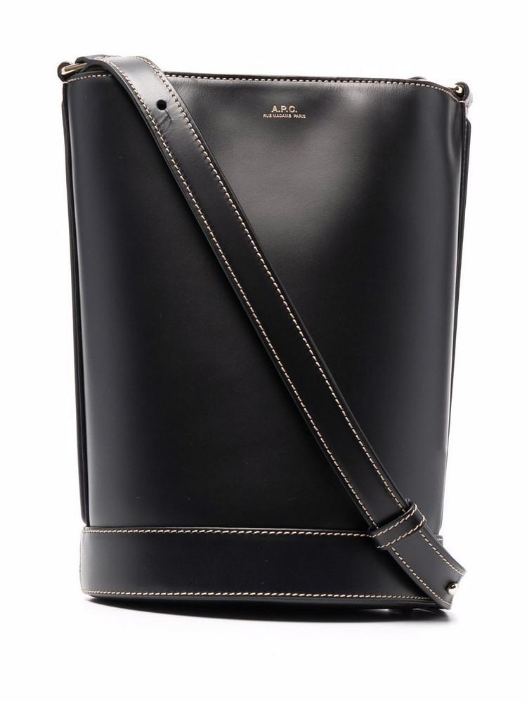 A.P.C. A.P.C. Ambre leather bucket bag - Black