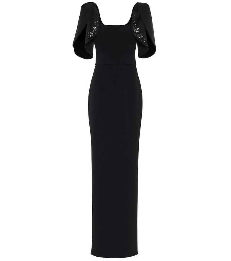 Safiyaa Embellished gown in black