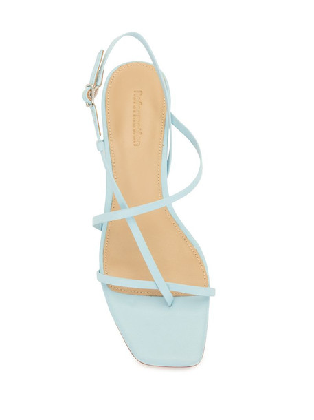 Reformation 20mm Pari sandals in blue