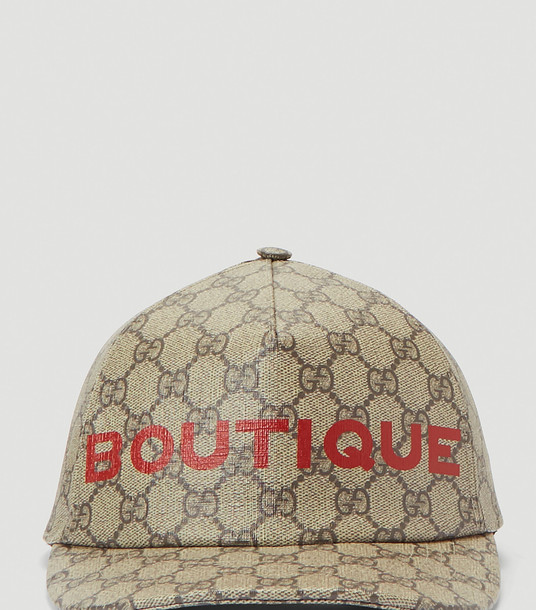 Gucci Hats Women - Boutique Print Baseball Cap Brown 100% Cotton. Dry clean. L