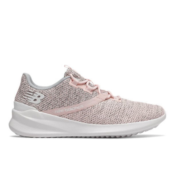 New Balance Cush+ District Run Women's Neutral Cushioned Shoes - Pink/White (WDRNPO1)