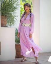 dress,lilac,rocky barnes,instagram,blogger,spring outfits,spring dress