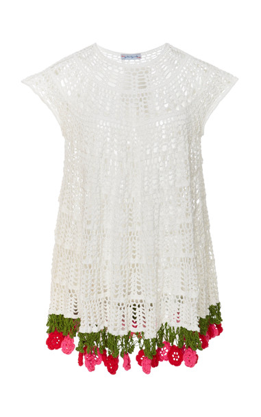 MY BEACHY SIDE Floral Mini Dress in white