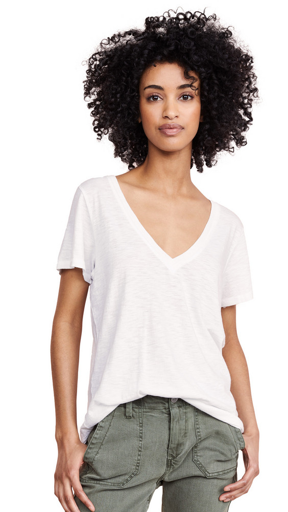 PAIGE Zaya Tee in white