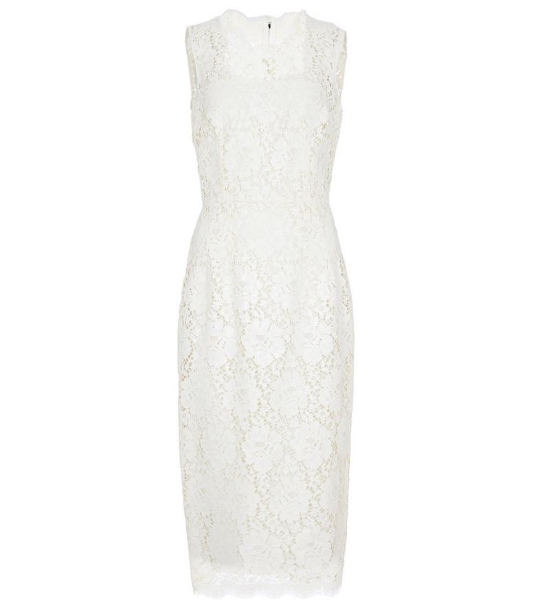 Dolce & Gabbana Lace midi dress in white