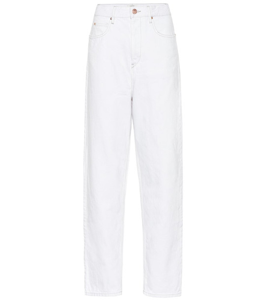 Isabel Marant, Étoile Corsy high-rise straight jeans in white