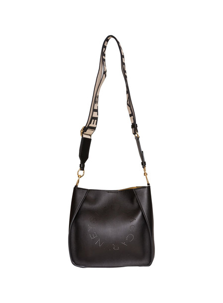 Stella Mccartney Mini Crossbody Logo Bag in nero