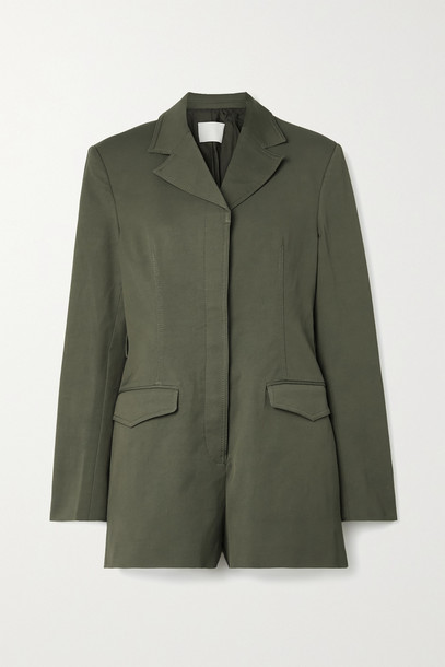 DION LEE - Drill Playsuit - Green