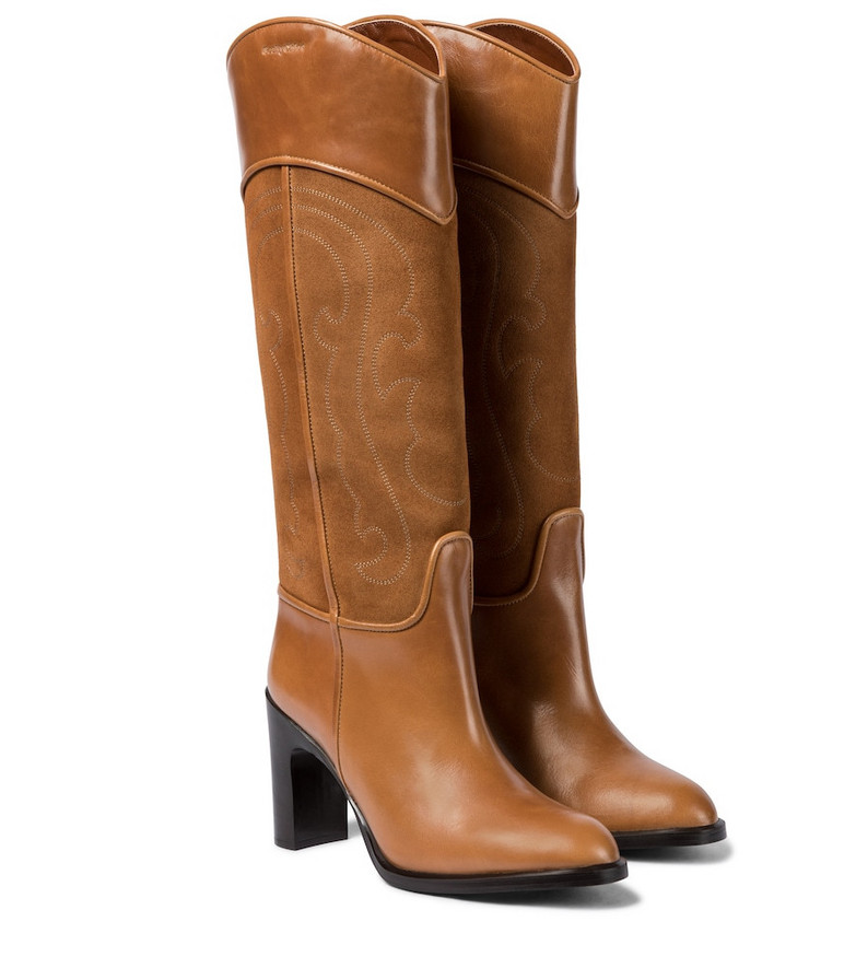 See By Chloé Leather knee-high boots in brown