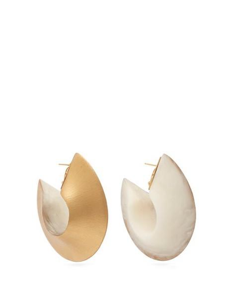 Vanda Jacintho - Ring Hoop Earrings - Womens - White