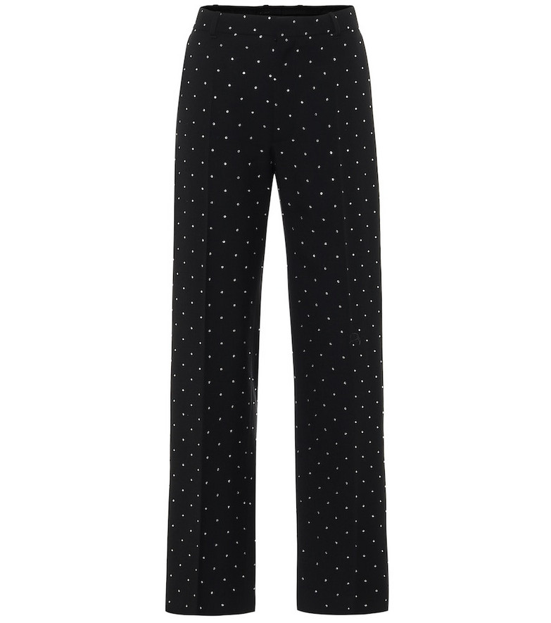 Balenciaga Embellished high-rise straight pants in black
