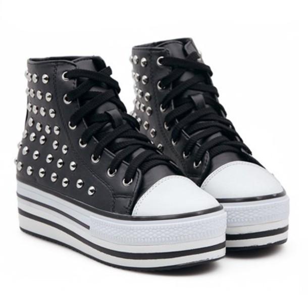 shoes platform shoes black strass