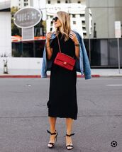 skirt,black skirt,mini skirt,satin,black sandals,black t-shirt,denim jacket
