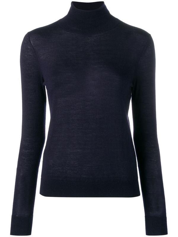 N.Peal fine knit jumper in blue